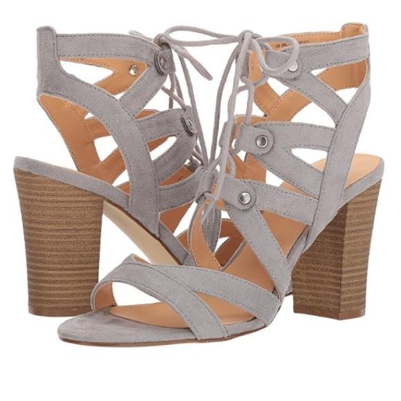 8fa357ffc7b XOXO Balta Gray Ghillie Lace Gladiator Sandals